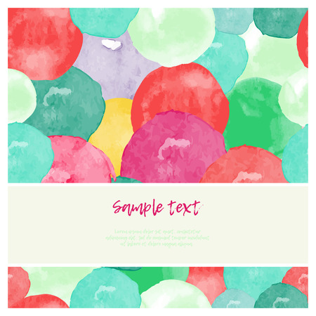Vector watercolor splashes square frame pattern invitation greeting cards set for wedding, marriage, bridal, birthday, Valentine's day, Merry Christmas. Bright  vector illustration.