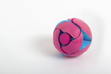 Plastic toy ball transformer blue and pink Banco de Imagens