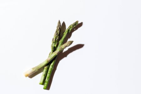 Green fresh asparagus on a gray background Reklamní fotografie - 149929194
