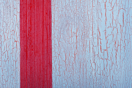 crackles: Red ribbon on shabby blue red background with crackles