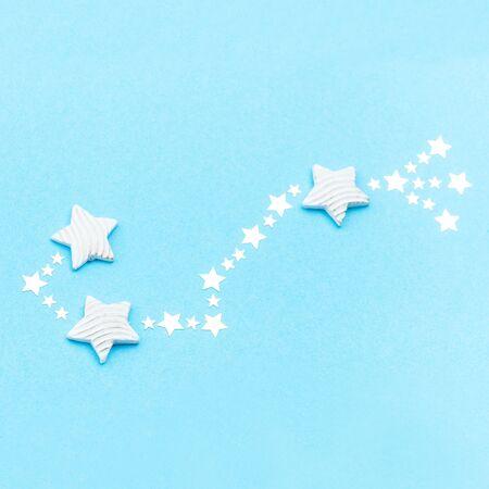 Zodiac constellation Scorpio on blue background