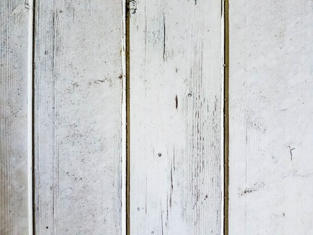 Background of wooden boards covered with white peeling paint Stock Photo