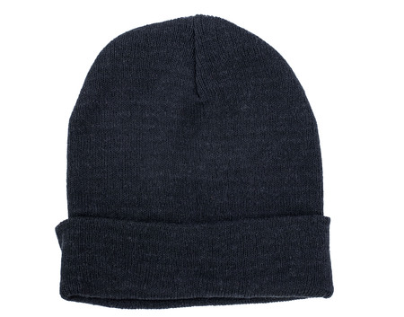 Black men sports hat isolated on white background.