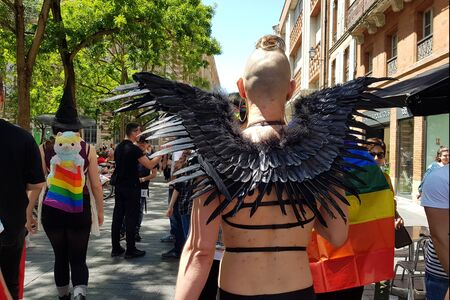 June 08, 2019, Toulouse, France. Pride March in the streets of the city. .
