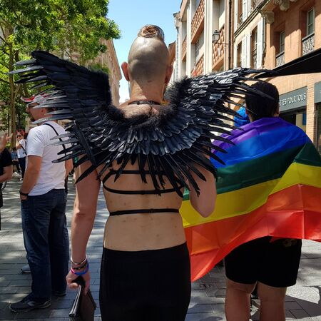 June 08, 2019, Toulouse, France. Pride March in the streets of the city.