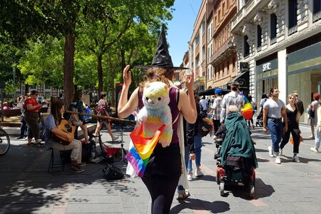 June 08, 2019, Toulouse France. Pride March in the streets of the city.
