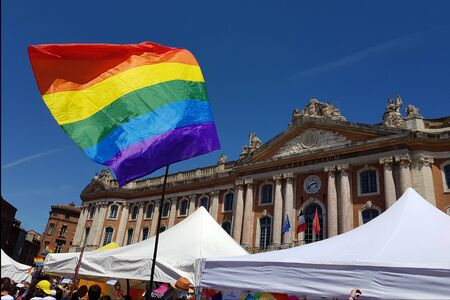 June 08, 2019, Toulouse, France. Pride March in the Capitol square