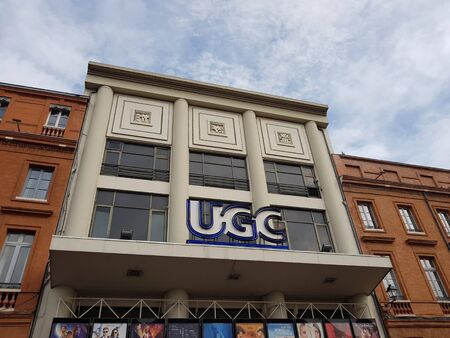 June 08, 2019, Toulouse, France Facade of the cinema UGC before closing