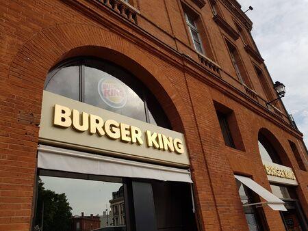 June 08, 2019, Toulouse, France. Burger King restaurant exterior the main entrance