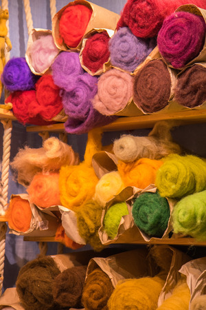 Colorful Fibre Wool Yarn Roving for Needle Felting Hand Spinning DIY Craft Materials