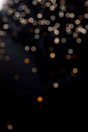 multi layered: dark background with Golden bokeh