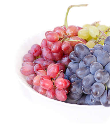 pink black: grapes of different varieties - pink black and white on a white background