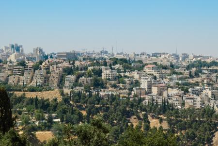 panoramic view of Jerusalem photo