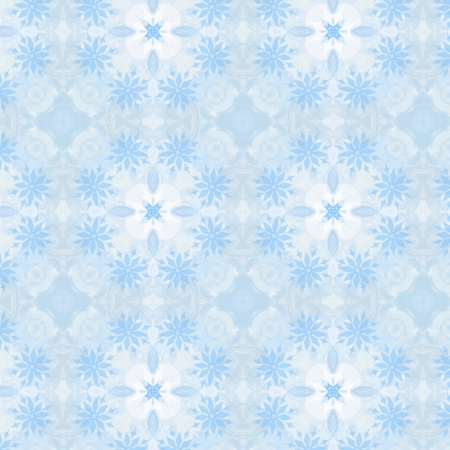 Christmas seamless pattern from white snowflakes photo