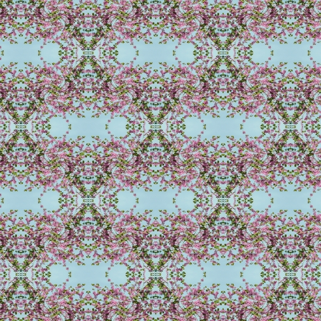 photo real: Seamless flower pattern  made from real detailed photo Stock Photo