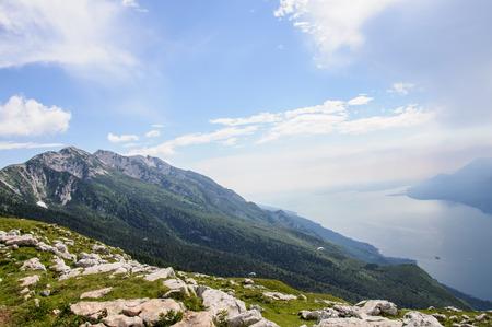 View of Lake Garda from Italian Alps - Monte Baldo, Malcesine photo