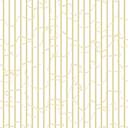 Abstract Striped Softness pistachio color vector seamless pattern. Vertical stripes and Curly ribbonons white background. Geometric template for design, wallpaper, textile, web site, ceramics.