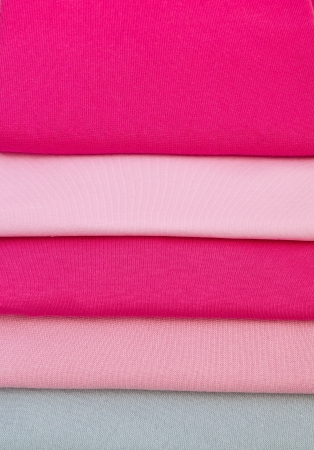Natural Fabrics. Bright Colourful Fabrics. Knitted fabric is background photo