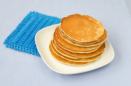 freshly prepared: Stack of freshly prepared pancakes