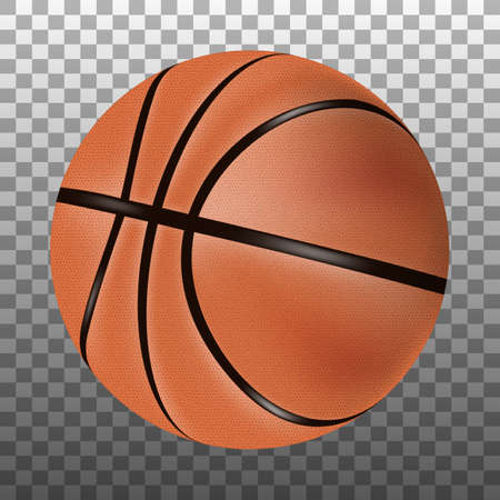 Vector isolated 3d basketball ball.