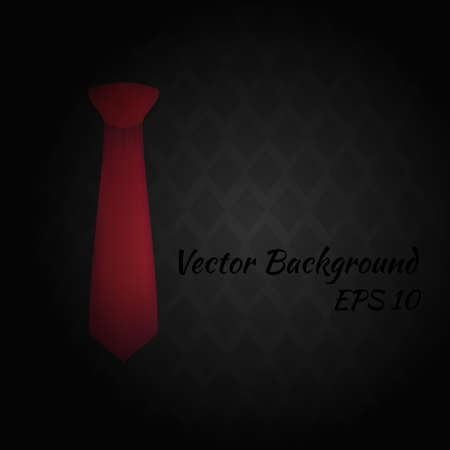 taylor: Vector Red tie on a dark abstract background. Illustration