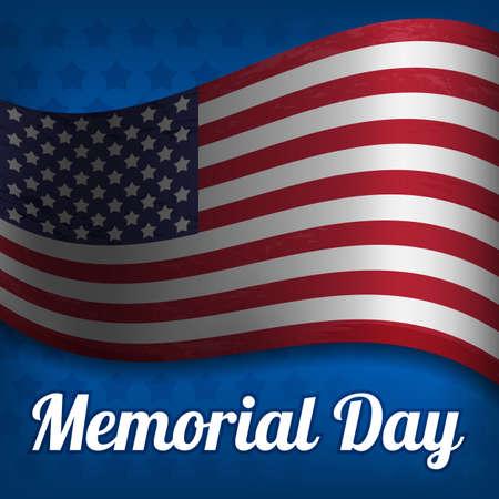 Ilustración del vector en Memorial Day.
