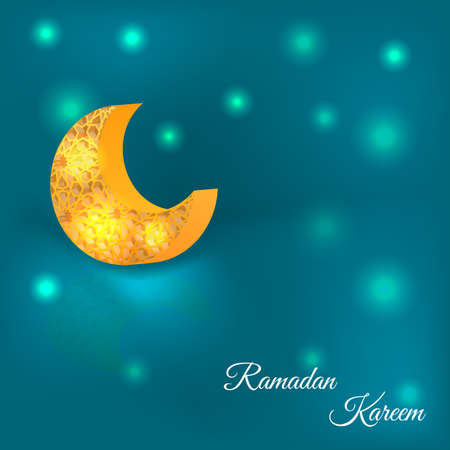Vector illustration of Ramadan kareem. Illustration
