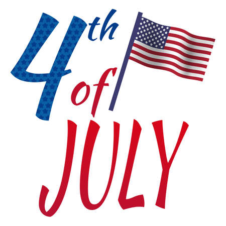 political party: July 4th happy independence day. Illustration
