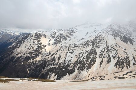Mount Cheget after a sandstorm. North Caucasus, Russia