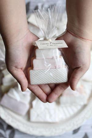 Pastel de boda empaquetados cookie Foto de archivo - 10119403