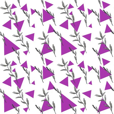 Pattern of graphic plants on a colored background