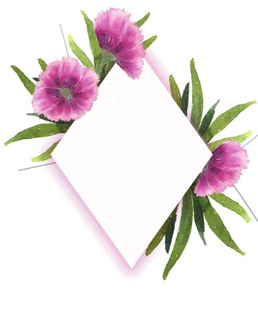 Postcards and invitations for holidays with floral decor on a white background