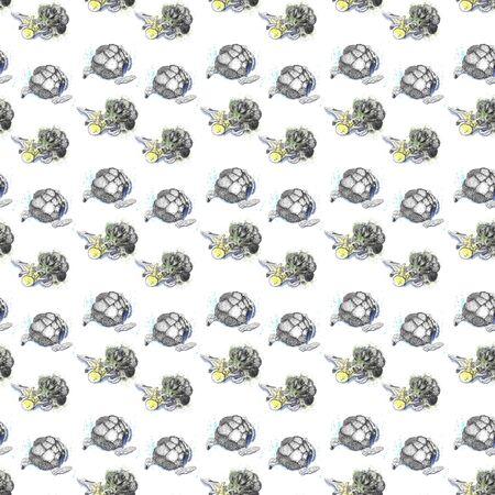 Graphic drawing of broccoli pattern on a white background Reklamní fotografie