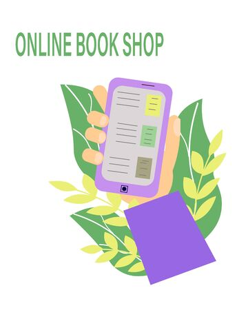 Line bookstore, great design for any purposes. Technology background vector.Line bookstore white background.