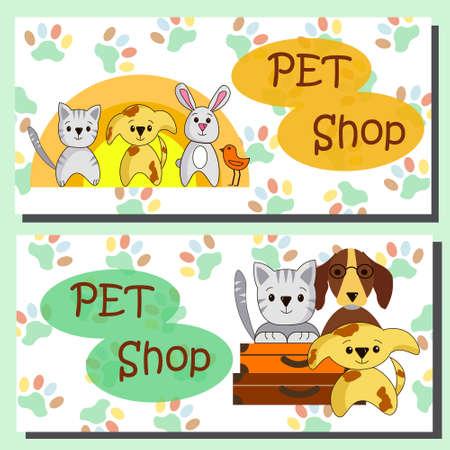 flyer shop for pets. Vektorové ilustrace