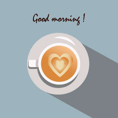 A cup of coffee - good morning flyer.