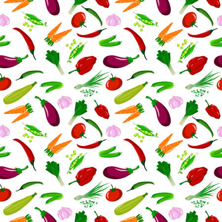 Pattern with different vegetables. Fresh vegetables are healthy food.