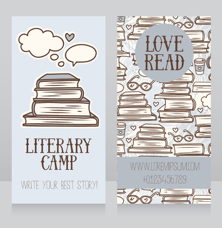 authorship: two banners for reading, vector illustration Illustration