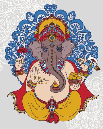 shree: Illustration of Lord Ganesha