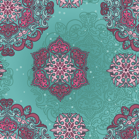Royal seamless pattern in victorian style, vector illustration