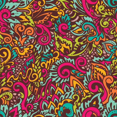 Abstract background, hand drawn doodle ornament, vector illustration