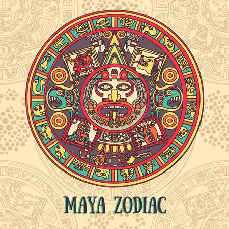 Maya traditional ornament Illustration