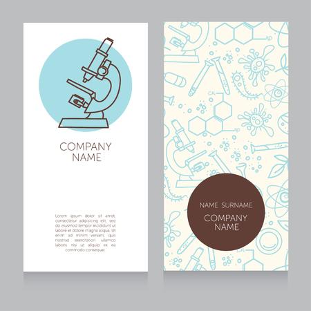 biologist: Business cards template for medical or science lab, vector illustration Illustration