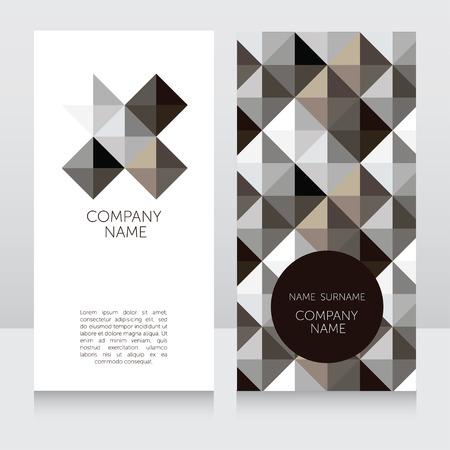 ide: Geometrical business cards, vector illustration Illustration