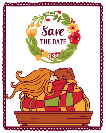 Cute couple card: Save The Date