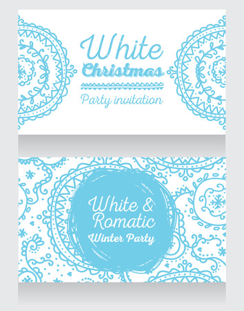 Template for Christmas party invitation,illustration
