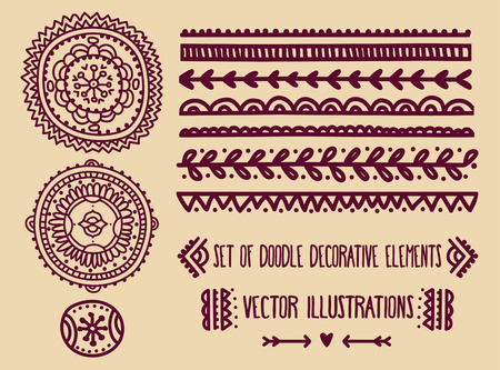 set of traditional african masks and african ornaments, vector illustration