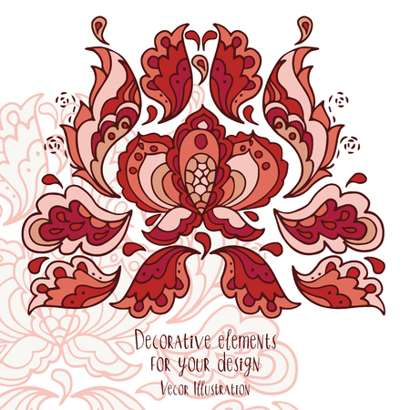 Beautiful frame with doodle ornament in boho style, can be used as party invitation, vector illustration Illustration