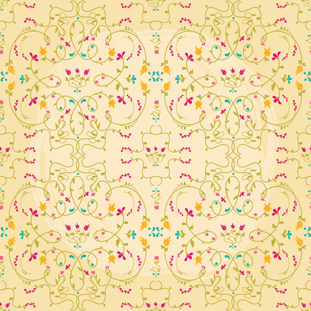 Beautiful seamless texture with flowers, vector illustration