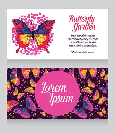 collect: Butterflies garden business card